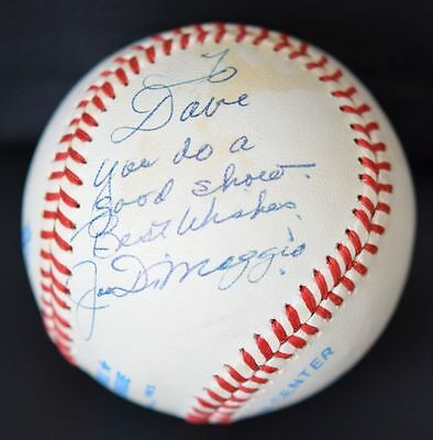 Joe DiMaggio Autographed Baseball Signed in 1990 Outstanding Example! PSA