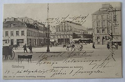 Sweden. Picture postcard showing early Gothenburg. Ship's cancel. 1903.