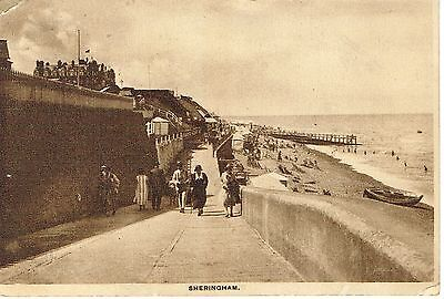 """RPPC Of """"  Sheringham """" posted 1931"""