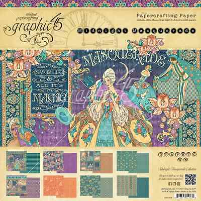 PREORDER Graphic 45 8x8 Midnight Masquerade Paper Pad