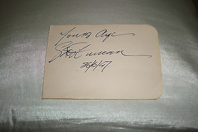 George Duncan Golfer Signed Autograph Book Page 1947 Won 1920 Open Championship