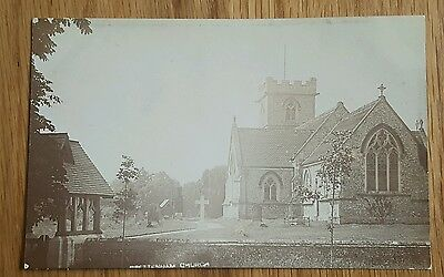 An Old Photo Postcard of Brettenham Church Norfolk