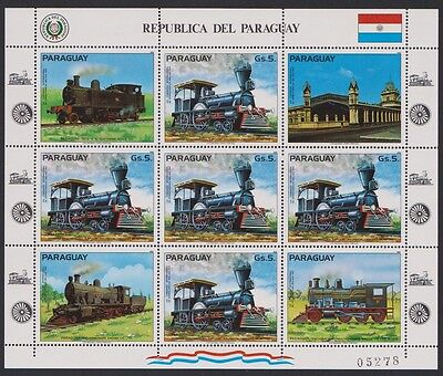 Paraguay South American Locomotives Sheetlet SC#2067