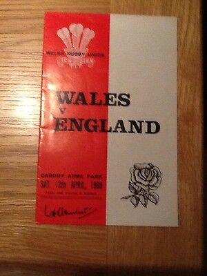 Wales V England 1969 Cardiff  Arms Park  - Nice Condition