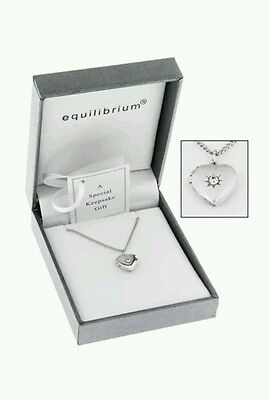 Equilibrium Silver Plated Necklace Heart Locket Bridesmaid Christening Childs