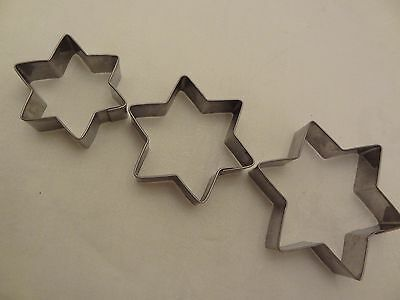 Star Shaped Metal Cutters - Set of 3,Biscuit, Cake Decorating,Cookies