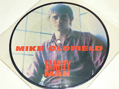 """Mike Oldfield: Family Man, 7"""" Picture Disc 1982"""