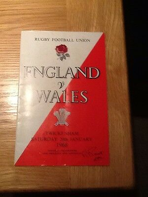 England V Wales 1968 &. Match Ticket Stub - Nice Condition