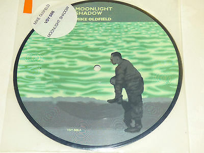 """Mike Oldfield: Moonlight Shadow, 7"""" Picture Disc 1983"""