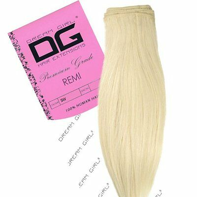 "Dream Girl 40,64 cm (16"") colore bianco neve Remi Weft Hair extension"