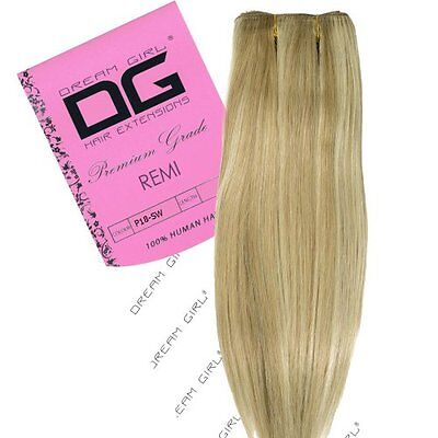 "Dream Girl 40,64 cm (16"") colore 18/Snow White Remi Weft Hair extension"
