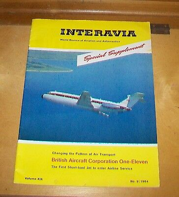 BAC ONE-ELEVEN AIRLINER INTERAVIA SPECIAL SUPPLEMENT Vol XIX No.9 1964