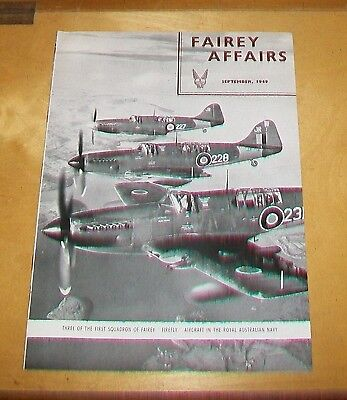 Fairey Affairs Magazine. September 1949. Firefly Mk I Target Towing Factories
