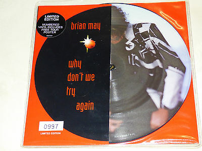 """Brian May: Why Don't We Try Again, 7"""" Picture Disc 1998"""