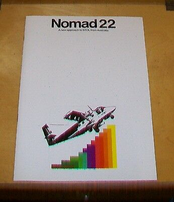 GAF NOMAD 22 STOL AIRCRAFT FROM AUSTRALIA BROCHURE also NOMAD 24 + SPECIFICATION