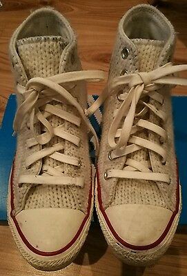 Converse Chuck Taylor All Star Wool Winter Knit White Ivory
