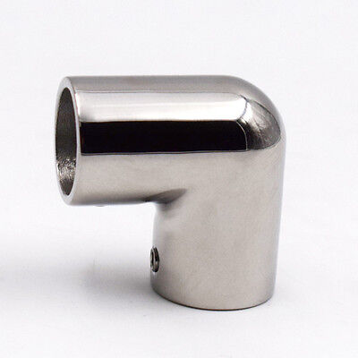"1 PC  7/8"" Boat Hand Rail Fitting 90 Degree Elbow 316 Stainless Steel Polished"