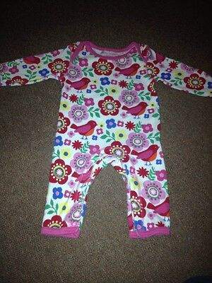 Toby Tiger Organic Cotton Baby Grow Onesie 3-6 Months Excellent Condition