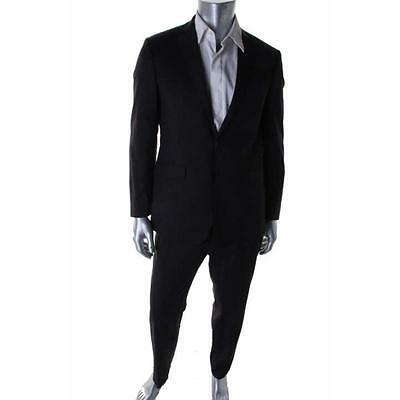 Calvin Klein 2401 Mens Gray Wool Extreme Slim Fit Two-Button Suit 44L 37 BHFO