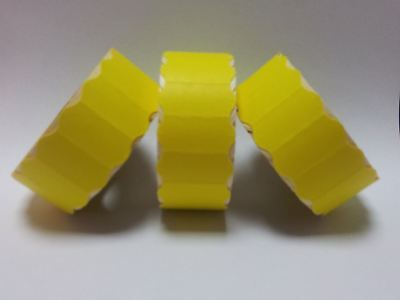 10 Rolls Yellow Permanent 26mm x 12mm Price Gun Labels CT4 Lynx Motex Pricing