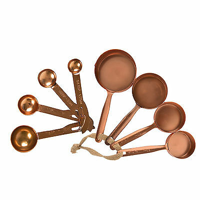 Copper Finish Metal Measuring Spoons & Cups Kitchen Baking Cooking Vintage Chic