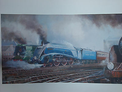 """""""MALLARD ON THE ACE, LOCO EXCHANGES 1948"""" signed print 17""""X11"""" ARTIST-SIGNED"""