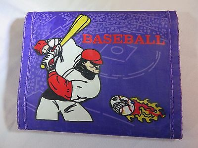 """Authentic Velcro 1980's """"OCEAN PACIFIC"""" Wallet Flaming Baseball   +FREE GIFT+"""