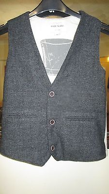 Age 11 River Island Tweed Country Style Waistcoat
