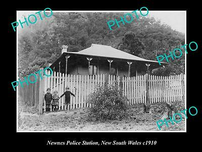 OLD LARGE HISTORIC PHOTO OF THE NEWNES POLICE STATION NSW c1910, LITHGOW AREA