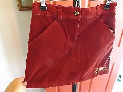 Girls Gymboree Skort Curdoroy Fall Color w/ Floral Embroidery Size 10