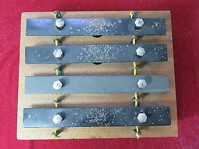 Vintage 1950s Folk Instrument Xylophone Bell Show Host Announcer Display Prop