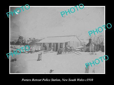 OLD LARGE HISTORIC PHOTO OF THE PORTERS RETREAT POLICE STATION NSW c1910, OBERON