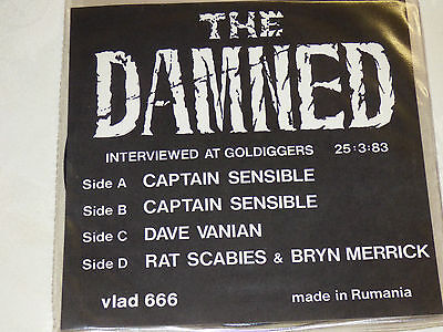 """The Damned: Interviewed At Goldiggers 25.3.83. 2x7"""" Picture Disc Set"""