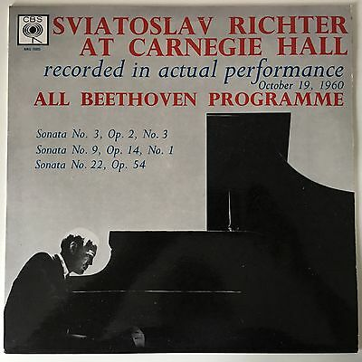 Sviatoslav Richter at Carnegie Hall - All Beethoven Programme  -  LP
