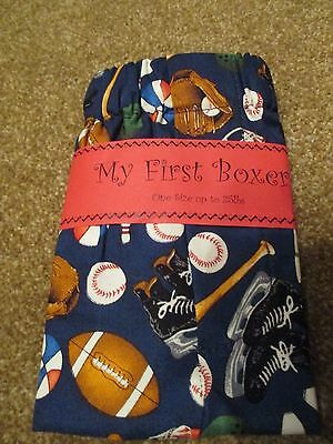 Infant Boys 'My FIrst Boxer' Sports Theme Size: up to 25lbs (12-18M) BNWT