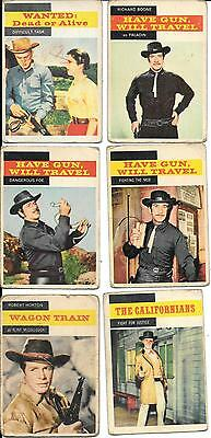 A&bc Gum - T.v. Westerns - 1959 - 6 Cards