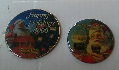 Waffle House Collectors Pins Christmas 2005 and 2006
