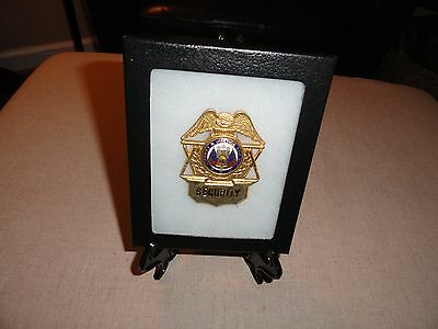 Rare Vintage Metal Obsolete Real Security Liberty & Justice For All Badge Case