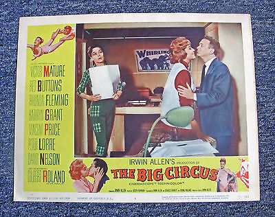 "1959 ""the Big Circus"" Movie Lobby Card #3 / Victor Mature, Vincent Price +"