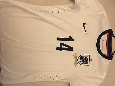 England Player Issue Match Worn Shirt Nike 14 Size L