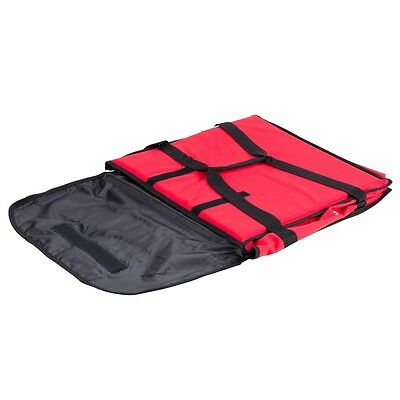 "18"" x 18"" x 5"" Insulated Red Pizza Delivery Bag"
