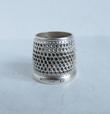 Very Good Quality Antique Tailor's Sterling Silver Sz 12 Thimble