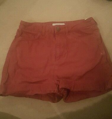 M&S high waisted shorts 8