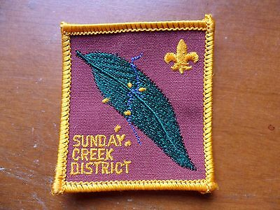 Sunday Creek District Embroidered Scout Cloth Badge *