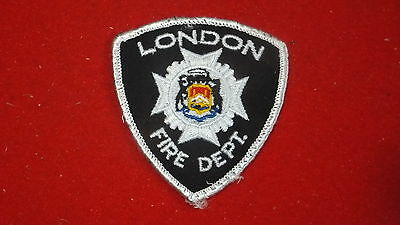 "Patch - Fire Dept - London     , Ont - Canada    Small - 3"" x 3"""