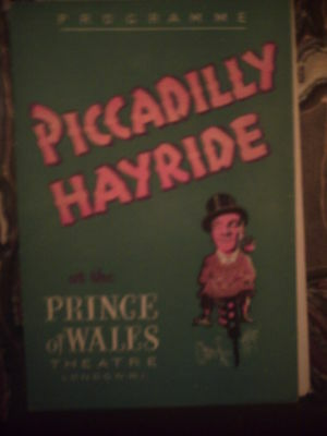 Prince Of Wales 1950 'piccadilly Hayride' Sid Field  Terry Thomas Programme.