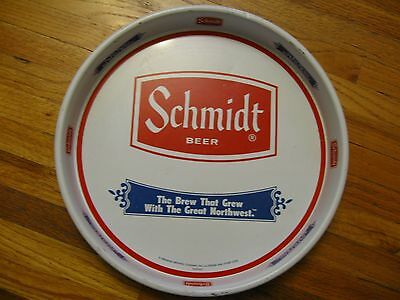 "Schmidt Beer, Round Serving Tray 13"" with white lip"