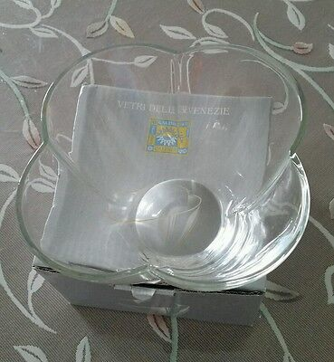 Caldier Glass Bowl Made In Italy