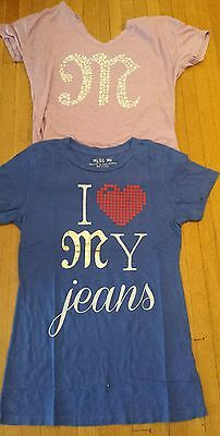 NEW Miss Me T Shirts  tees Long Sleeve assorted styles LOT OF 2. Sz: M