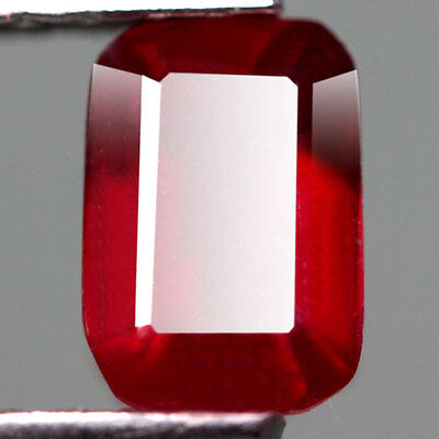 1.29Cts - Natural, Blood Red Ruby, Octagon, SI, Madagascar, 1Pcs, Glass Filled